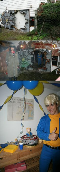 Having a Fallout Themed Birthday Party? Why Not Transform Your Garage Into a Vault! Fallout Theme, Fallout Props, Fallout Facts, Fallout 3, 30th Birthday Parties, Birthday Party Decorations, Birthday Wishes, Birthday Memes, Birthday Nails