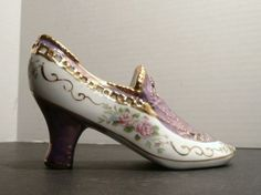 Collectible Limoges High Heel China Violet Shoe by Pascalene