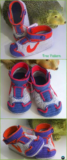 Crochet Winged Baby Sneakers Free Pattern - Crochet Sneaker Slippers Free Patterns