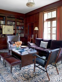 Traditional Office/Library by Victoria Hagan in Southport, Connecticut