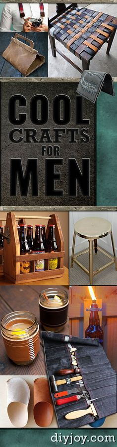 Cool Crafts for Men and Creative DIY Projects for Men - Fun Man Cave Ideas, Homemade Gifts, Manly Decor, Step by Step Tutorials for Creative Projects to Make This Weekend | Super DIY Christmas Gift Ideas for Guys - the Boyfriend, Husband, Brother, Dad and Father In Law http://diyjoy.com/diy-projects-for-men-crafts