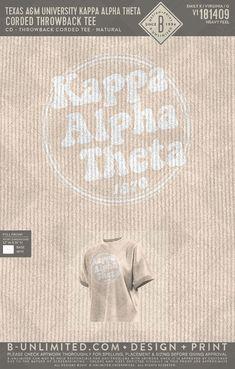 Kappa Alpha Theta Shirt Kappa Alpha Theta, Greek Clothing, Custom Clothes, Print Design, Let It Be, Feelings, Tees, Shirt, Greek Outfits