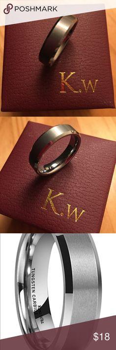 6mm Tungsten Men's Wedding Band Brand new, never worn. Accessories Jewelry