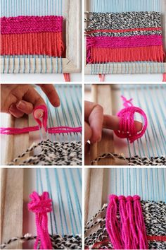 Step by step for making your own Diy Woven Wall Hanging - 20 Best Of Diy Weaving Loom Concept Weaving Textiles, Weaving Art, Tapestry Weaving, Loom Weaving, Yarn Crafts, Diy Crafts, Ideias Diy, Weaving Projects, Diy Décoration
