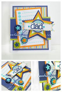 Doodlebug Father's Day Card using Boys Only Collection for DT.  by Stephanie Buice
