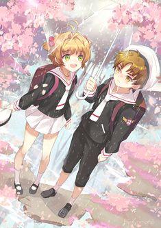 Sakura and Syaoran, by Pixiv Id 3779245