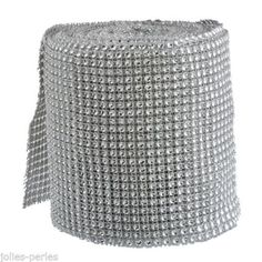 JP 1Roll Electroplateed Imitated Hollow Rhinestone Crystal Mesh Line 11.7cm