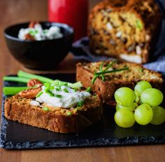 Goat Cheese Bread with Chives, Scallions, and Pecans