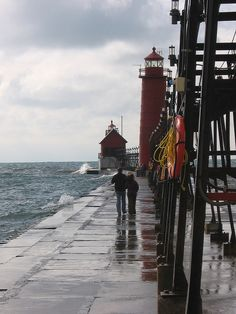 The Grand Haven lighthouse and pier is a great place to go for a stroll with loved ones.