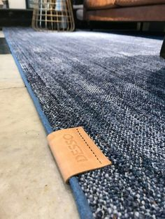 Denim rug with authentic detailing. Living Room Throws, New Living Room, Living Room Decor, Denim Furniture, Denim Rug, Blue Candles, Kitchen Rug, Creative Decor, Floor Rugs