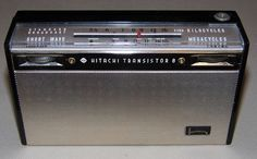 Hitachi Two-Band (AM/SW) 8-Transistor Radio, Model WH-822H, Made in Japan, Circa 1964 | Flickr - Photo Sharing!