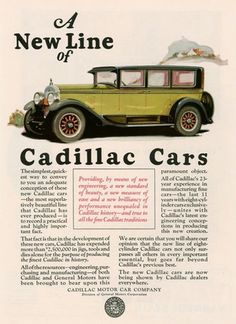 Cadillac Automobile A New Line - Mad Men Art: The 1891-1970 Vintage Advertisement Art Collection