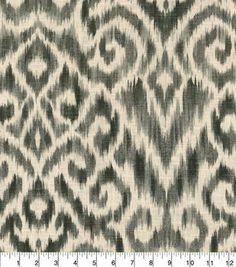 Williamsburg Upholstery Fabric 54''-Zinc Thompson Ikat
