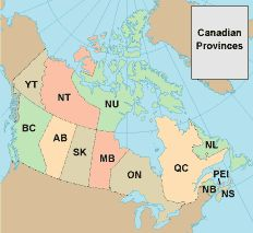Show Map Of Canada With Its Provinces.Canada Maps And Canada Travel Guide Canadian Province Maps