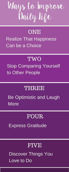 5 Simple and Easy Way to Improve Each and Every Day of Your Life!
