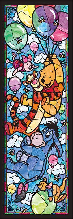 TEN-DSG456-722 ディズニー くまのプーさん ステンドグラス 456ピース ジグソーパズル