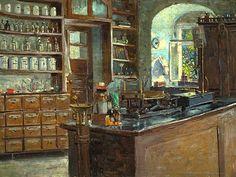 Robert Sterl Apothecary in Lauenstein 1892