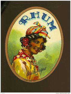 étiquette Rhum Distillerie Rhum Martinique -