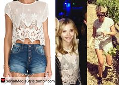 Chloe Grace Moretz vs Ashley Benson: Who Wore It Better? Buy their lace crop top, here!