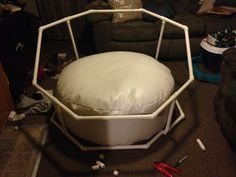 DIY PVC newborn octagon background/backdrop stand. Props