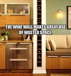 Wine wall :) Perfect!!