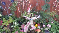Estate sale bird bath Fairy Garden
