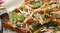 CPK Thai Chicken Pizza
