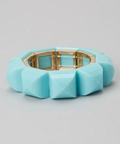Another great find on #zulily! Blue & Gold Stretch Bracelet #zulilyfinds