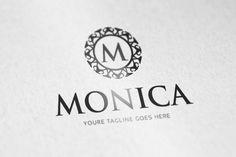 Monica logo by vectorlogos89 on Creative Market