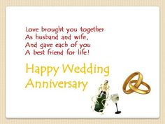 Anniversary Card Messages For Friends | ... » Anniversary » To a Couple » Warm Wedding Anniversary Wishes
