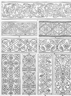 Patterns for embroidery in 200 Vorlagen für Paramentenstickereien, Joseph Braun, 1916.: