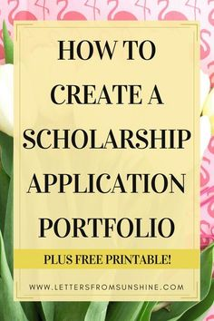 Applying to scholarships can be extremely overwhelming, but it doesn't have to be if you have a prepared portfolio on hand! Today I am walking you through the steps of creating your own portfolio that will help you with applying to scholarships.and mayb Grants For College, College Fund, Financial Aid For College, College Planning, Online College, Scholarships For College, Education College, College Hacks, College Students