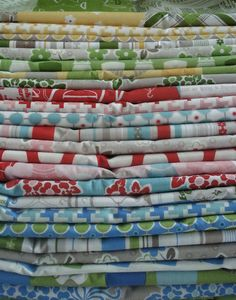 Love it! New Spring Quilt fabric...Millie's Closet Line. :)