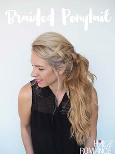 Cool and Easy DIY Hairstyles - Braided Ponytail Hairstyle - Quick and Easy Ideas for Back to School Styles for Medium, Short and Long Hair - Fun Tips and Best Step by Step Tutorials for Teens, Prom, Weddings, Special Occasions and Work. Up dos, Braids, Top Knots and Buns, Super Summer Looks http://diyprojectsforteens.com/diy-cool-easy-hairstyles
