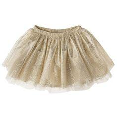 2013 Christmas Outfit ... Cherokee® Infant Toddler Girls' Full Skirt (Gold) - $14.00 | Target.com