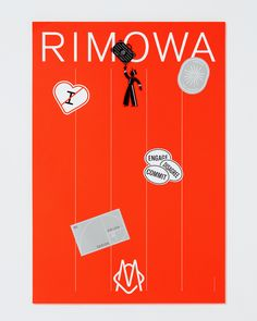 Visual identity, posters and invitation by Commission and featuring ilustration by Yu Nagaba for the luxury luggage manufacturer Rimowa. Text Layout, Poster Layout, Poster S, Poster Prints, Identity Design, Visual Identity, Brand Identity, Rimowa, Fashion Branding