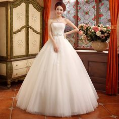 The new 2014 winter wedding dress Slim thin Bra straps Qi wedding wedding bride dress tutu - Taobao