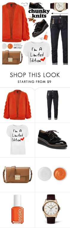 """""""Chunky knits"""" by cly88 ❤ liked on Polyvore featuring River Island, Dsquared2, WearAll, Franco Sarto, Michael Kors, Christian Dior, Essie and Jaeger-LeCoultre"""