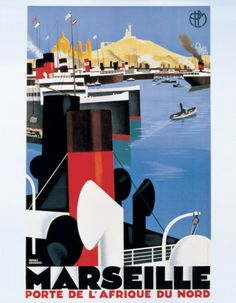 vintage reproduction marseille travel poster