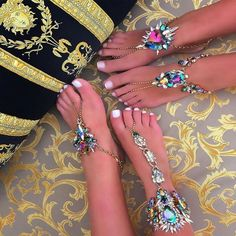Flower Ankle Bracelets Beach Vacation Sandals Sexy Leg Chain Female Crystal Boho Anklet Statement Jewelry