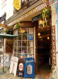 Traditional English sweet and tobacconist shop which are getting rarer, Hastings, East Sussex, England. By B Lowe