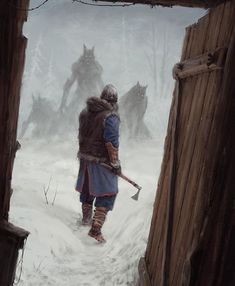 "7,206 Likes, 17 Comments - Premium Fantasy Art (@eclosion.games) on Instagram: "" Art by @mr_werewolf #wataha #wolfpack #werewolf #werewolves #vikings #winter #atmosphere…"""
