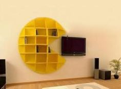 Pacman smart shelves retro gaming old school
