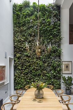 Gravity Home: Wall of plants in a Spectacular London Loft