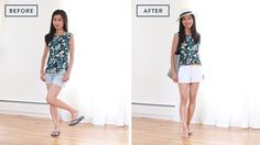 How to improve basic outfits: shorts + sandals combo