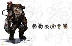 Bioshock Big Daddy concept art