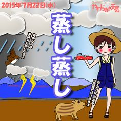 きょう(22日)の天気は「曇りがち→にわか雨」。次第に厚い雲に覆われて、湿った南風が強めに吹くことも。昼頃からは所々でにわか雨や雷雨、夜遅くからは広い範囲で本降りの雨になりそう。日中の最高気温はきのうより5度ほど低く、飯田で28度。