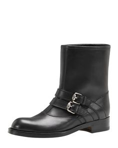 Gucci. Love. Leather Motorcycle Boots, Sexy Boots, Black Boots, Bergdorf Goodman, Neiman Marcus