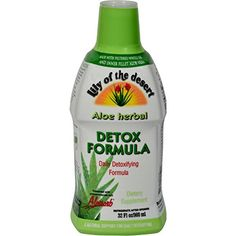 Lily of the Desert Aloe Herbal Detoxifying Formula Description: Made with Filtered Whole Leaf and Inner Fillet Aloe Vera Daily Detoxifying Formula Enhanced with Acacia Gum, Herbal Detox, Slippery Elm, Herbal Weight Loss, Healthy Liver, Organic Aloe Vera, Milk Thistle, Natural Flavors, Herbalism