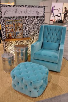 A glider such as this is sure to add elegance to any room. #JenniferDelonge #turquoise